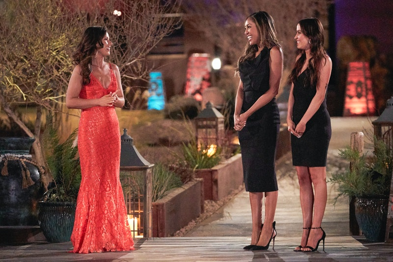 Katie Thurston, Tayshia Adams, and Kaitlyn Bristowe on 'The Bachelorette' premier, via the ABC press site