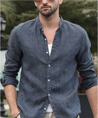 Makkrom Linen Button-Down Shirt