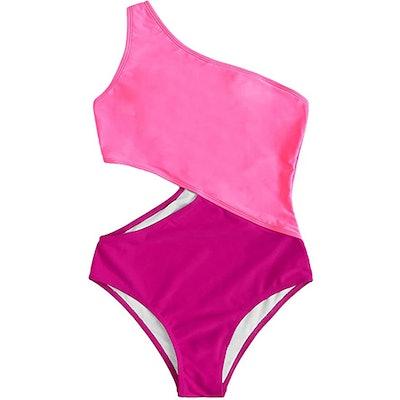 SweatyRocks One Shoulder Cutout Monokini