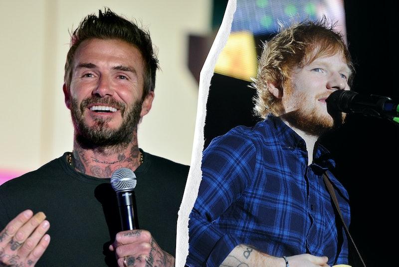 David Beckham & Ed Sheeran are teaming up for a TikTok Euros gig