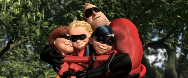 'The Incredibles' is a movie about a family of superheroes battling science fiction villains.