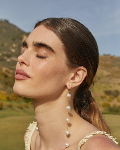 Model wears jewelry from Chan Luu's bridal collection.