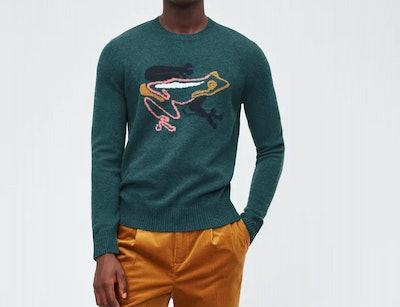 Merino Frog Crew Neck Sweater