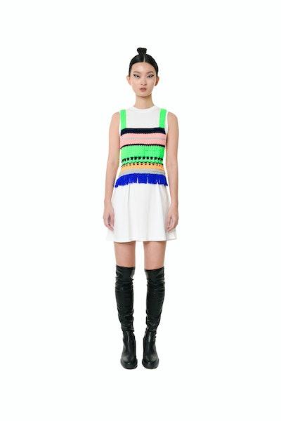 Neon Green Crochet Top