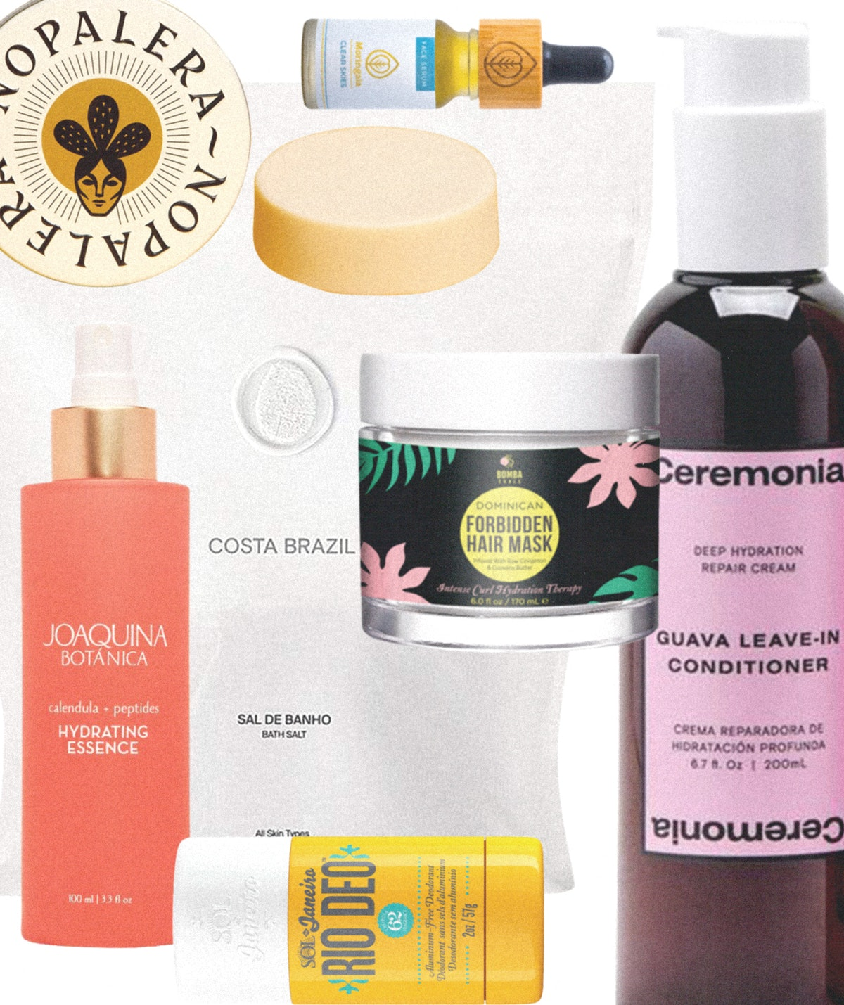 group of beauty products