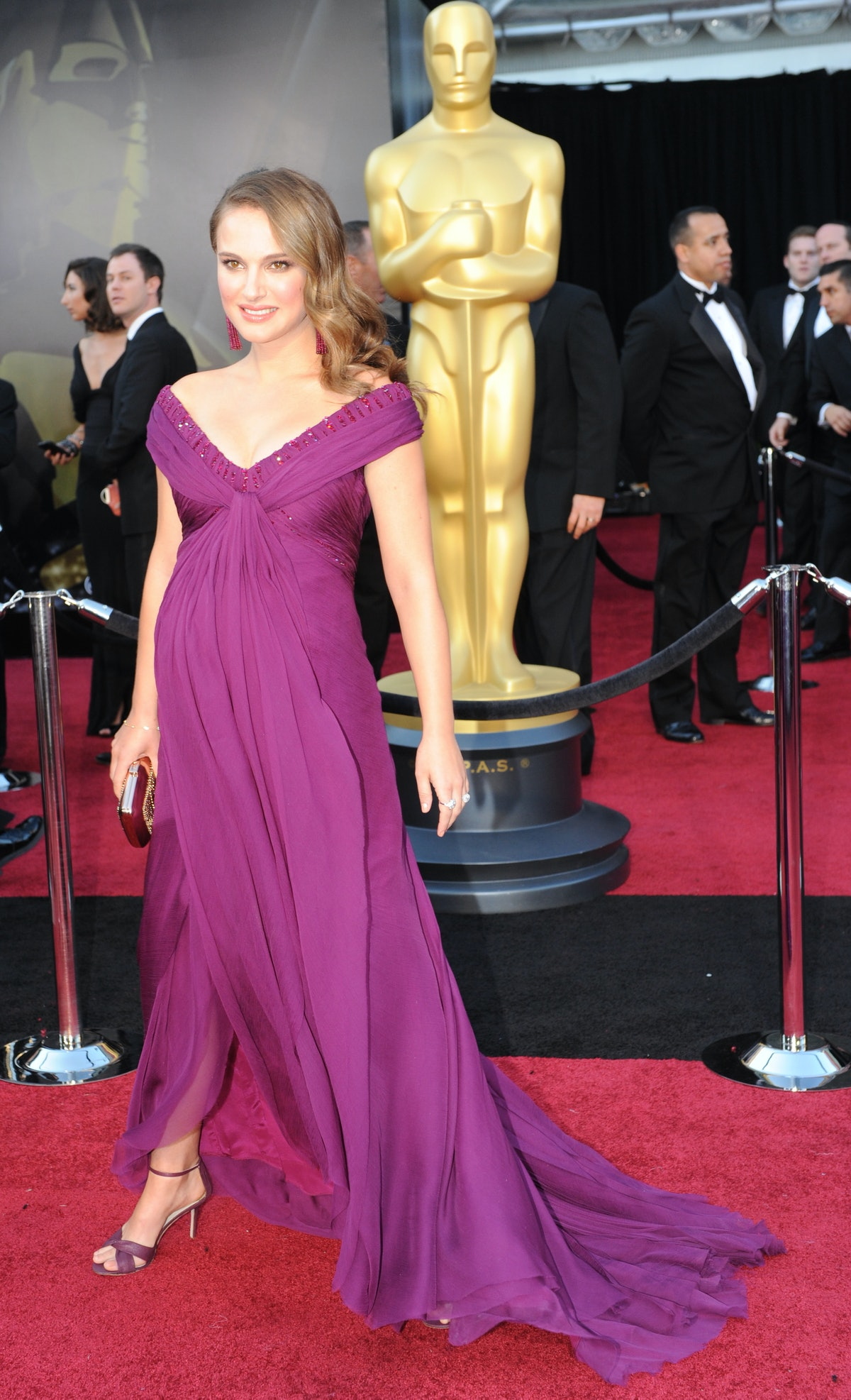 Natalie Portman in purple.