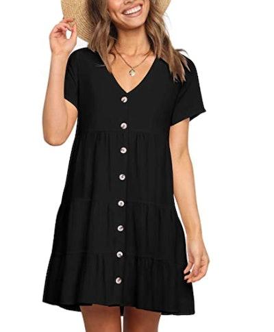 Cosonsen Swing Shift Tunic Dress