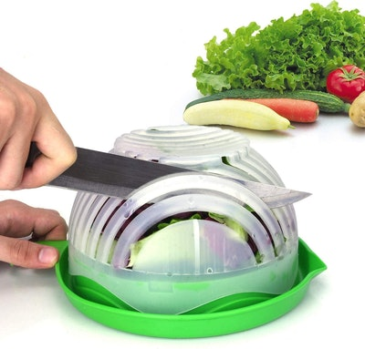 WEBSUN Salad Cutter Bowl and Strainer