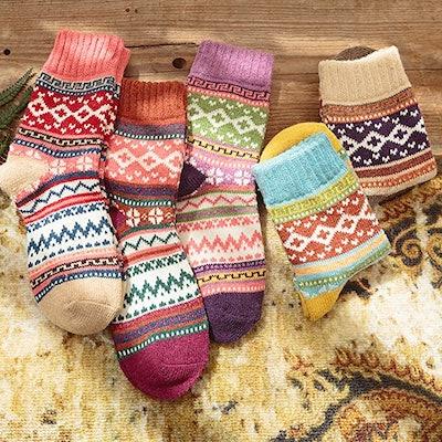 Loritta Wool Socks (5 Pairs)