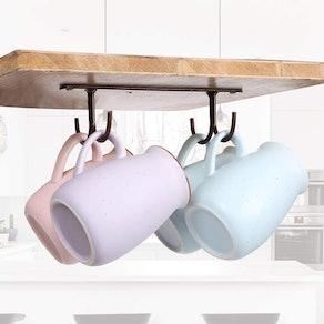 Fvstar Under-Cabinet Mug Hanger (2-Pack)