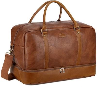 BAOSHA Leather Weekender Bag