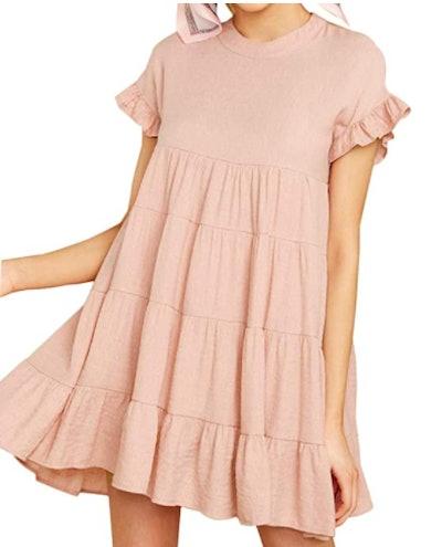 Joteisy Tiered Mini Dress