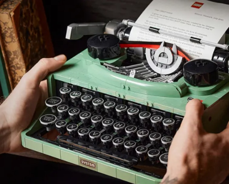 Lego's new Typewriter kit functions like a real typewriter, but there's no ink so you can't actually write with it.