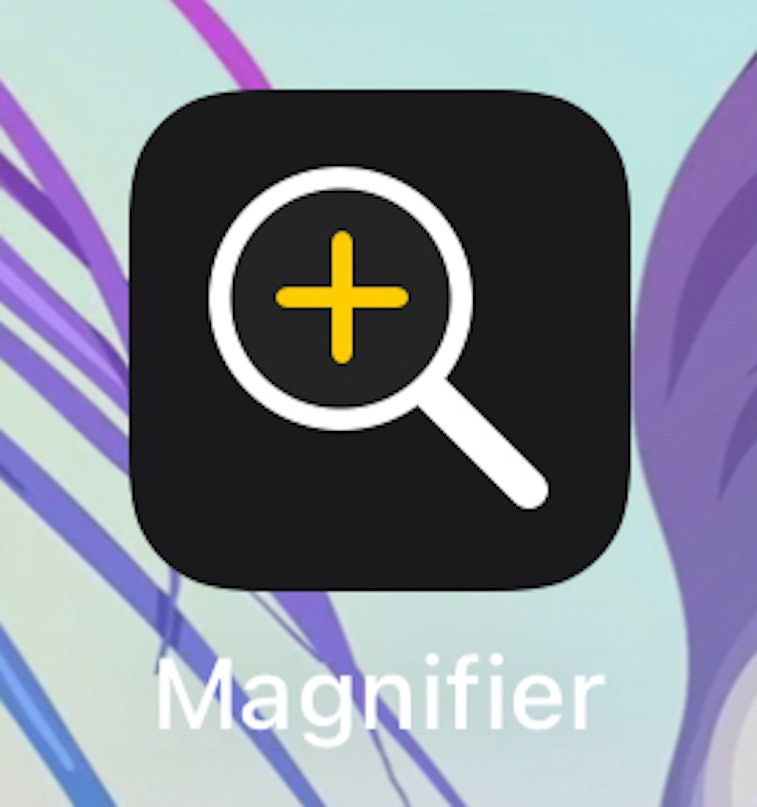 Magnifier icon in iOS 15. Apple. iPhone. Mobile.