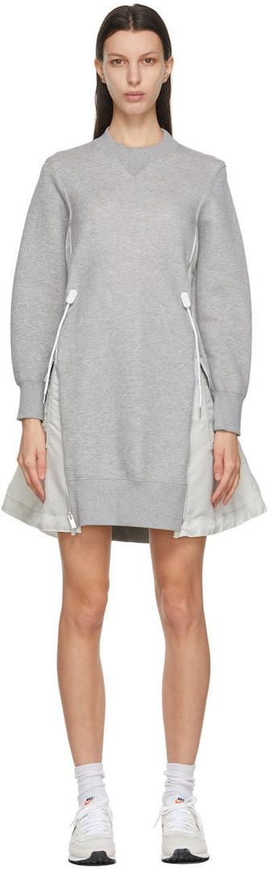 Gray & Off-White Sponge Sweat X MA-1 Dress