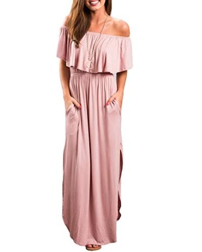 Sarin Mathews Off the Shoulder Ruffle Dress
