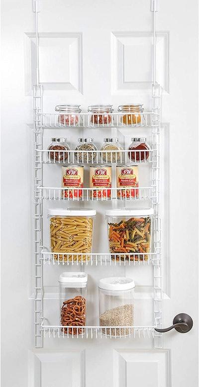 Smart Design Over-The-Door Adjustable Pantry Organizer