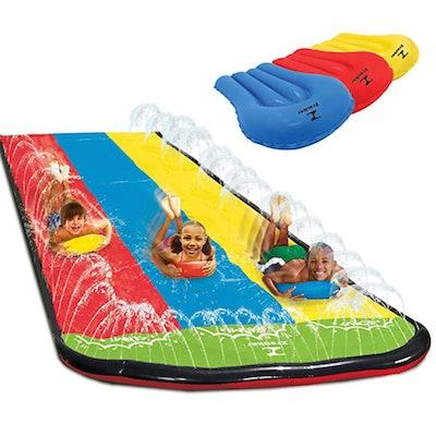 Zrauker Triple Lane Slip Water Slide