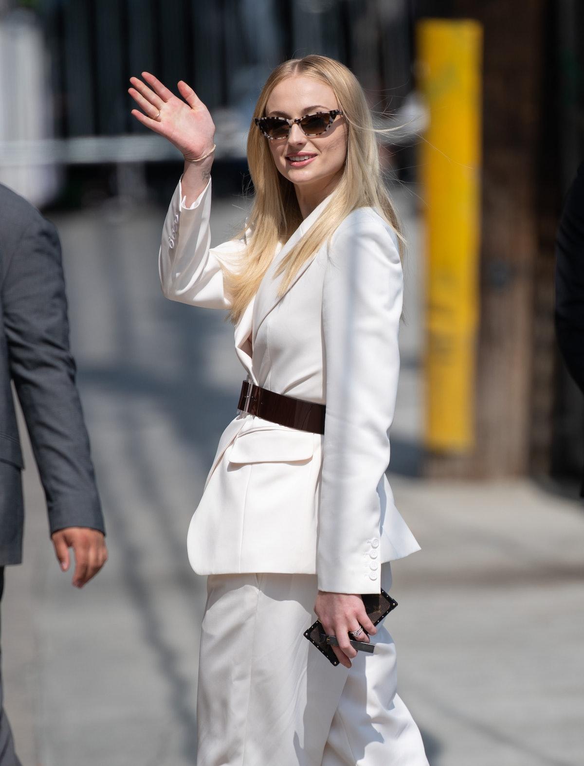 Sophie Turner is seen at 'Jimmy Kimmel Live' on June 4, 2019 in Los Angeles, California.