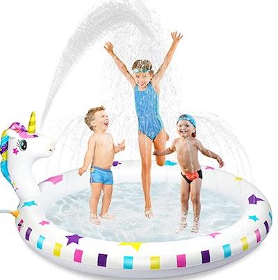 Hony Inflatable Sprinkler Pool