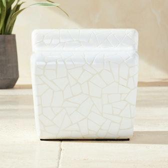 Plaza White Tile Side Table