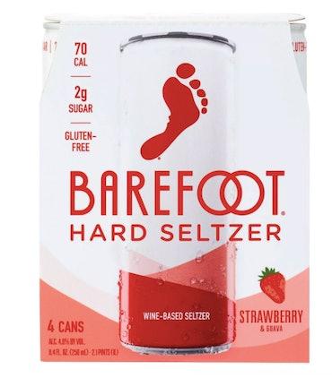Barefoot Strawberry Wine-Based Hard Seltzer (4 Cans)