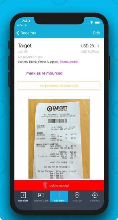 Organize your receipts and purchases with this organization app.