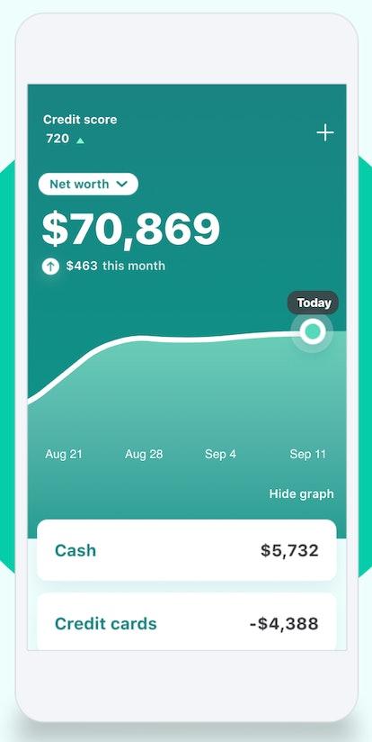 Mint lets you organize finances.