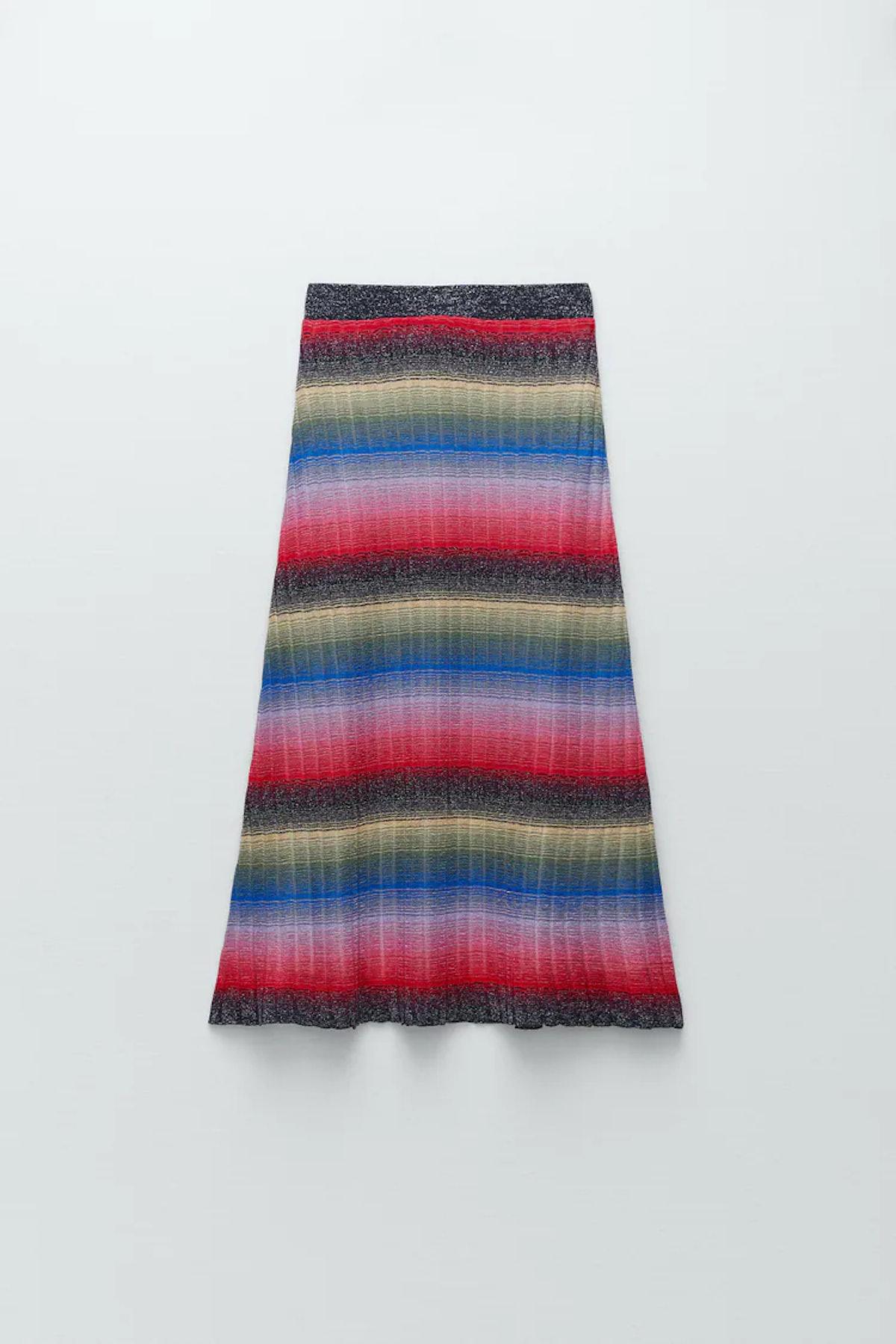 Metallic Thread Knit Skirt