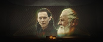 Loki and Odin projection in Loki Episode 1