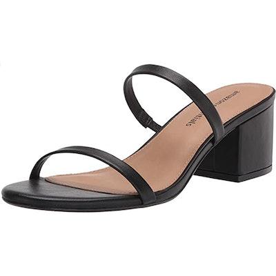 Amazon Essentials Thin Two Strap Heeled Slide Sandal