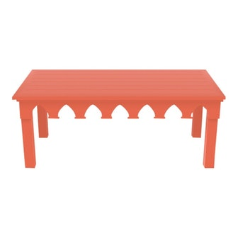Oomph Ocean Drive Rectangle Outdoor Coffee Table, Orange