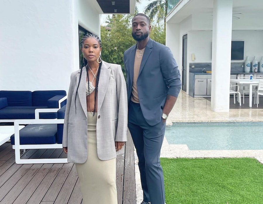 Gabrielle Union and her husband Dwyane Wade wore matching gray outfits on Instagram.