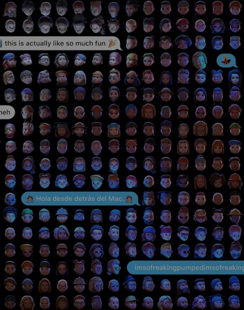 Screen shot of memojis from Apple's WWDC. iOS 15. Mobile.