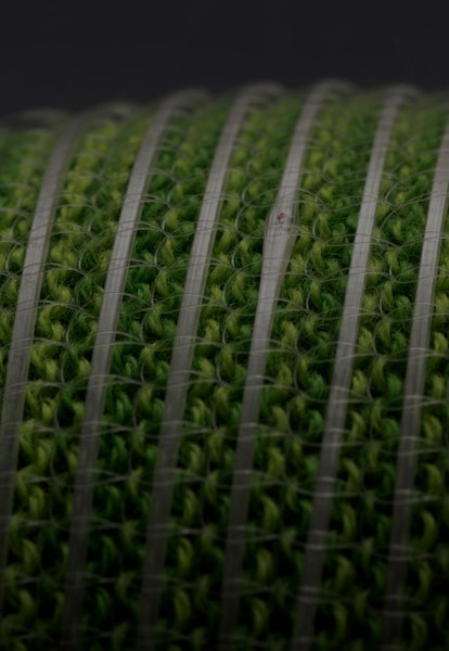 closeup of fibers with digital memory