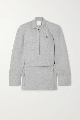 Irene Mélange Cotton-Blend Neoprene Mini Dress