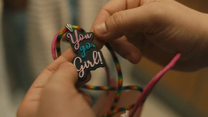 """Jeanette's """"You Go, Girl"""" necklace from Freeform's 'Cruel Summer' also on Hulu"""