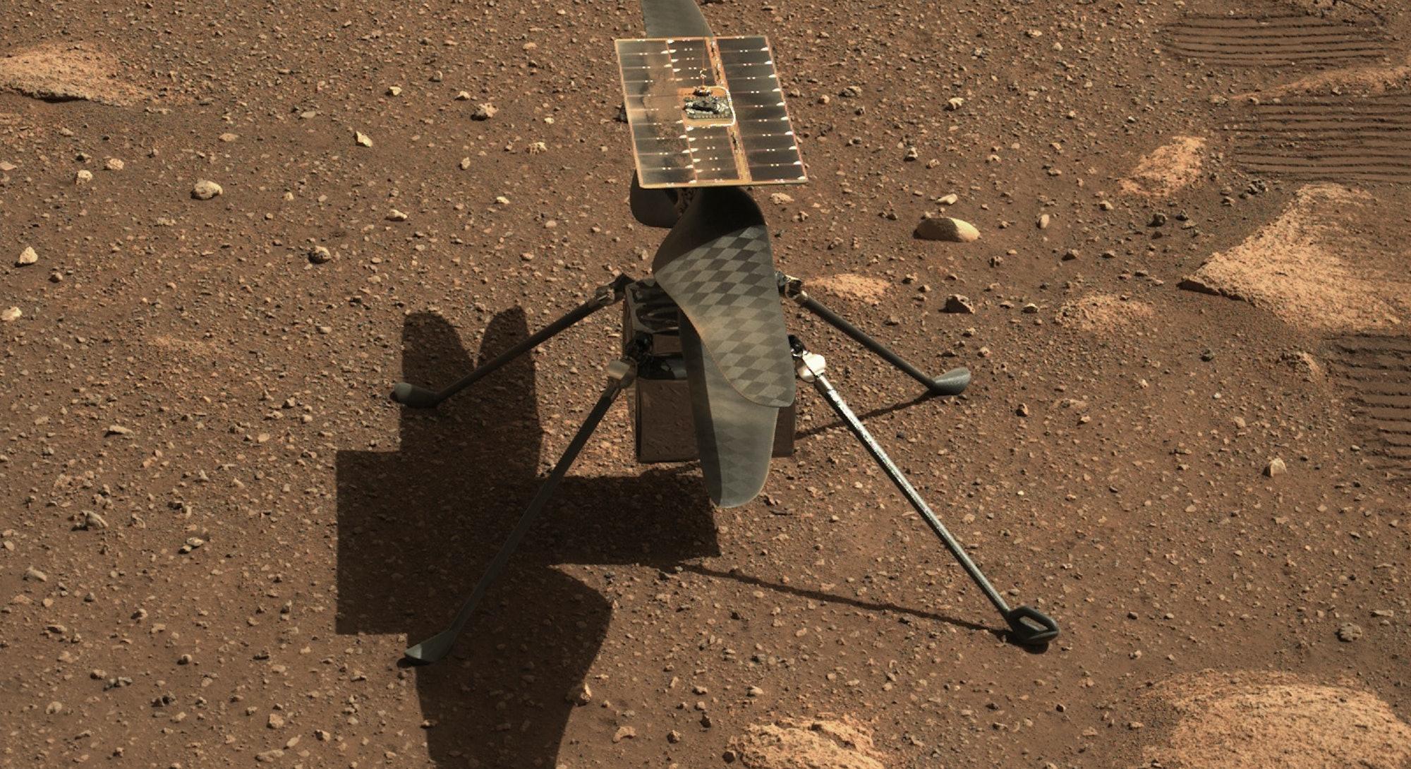 NASA Ingenuity helicopter on Mars.