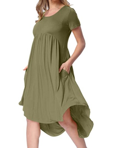 levaca High Low Midi Dress