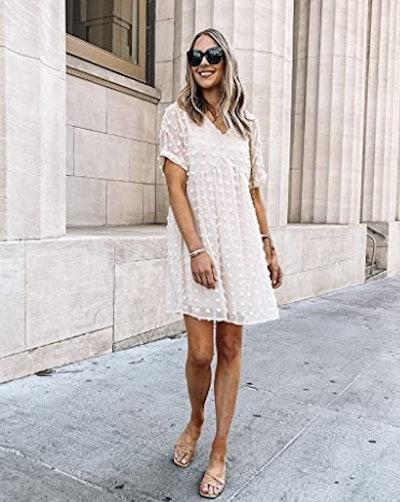 KIRUNDO Swiss Dot Mini Dress