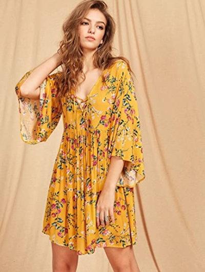 Milumia V-Neck Flowy Dress