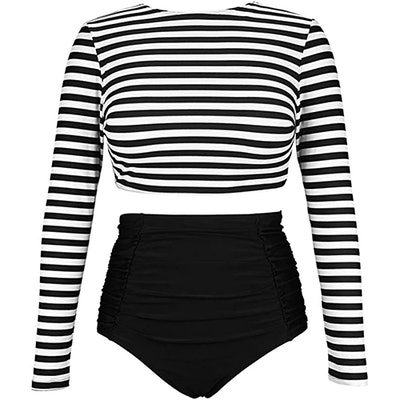 COCOSHIP Long Sleeve Swimsuit