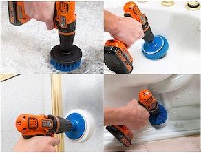 RevoClean Scrub Brush Power Drill Attachments (Set of 4)