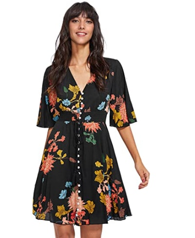 Milumia Button Up Flowy Dress