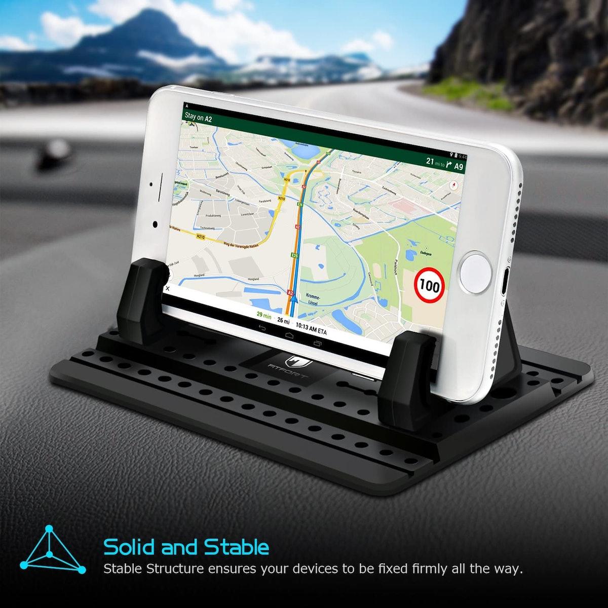 FITFORT Universal Silicone Anti-Slip Car Phone Mount
