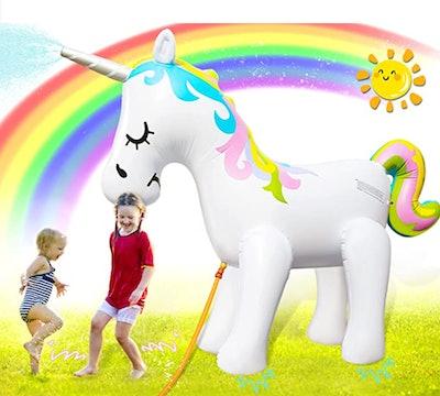SooFun Giant Inflatable Unicorn Sprinkler