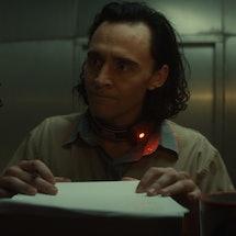 Tom Hiddleston stars in 'Loki,' the Disney+ series that is already full of MCU Easter eggs. Photo via Marvel Studios