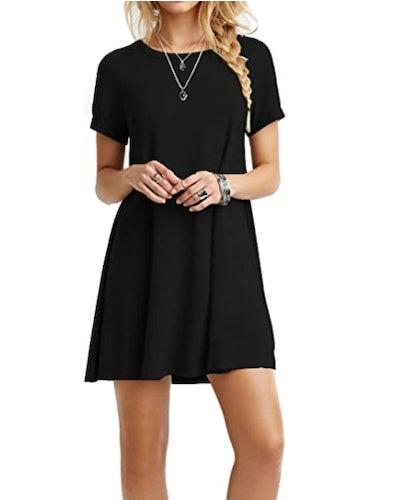 TINYHI Loose T-Shirt Dress
