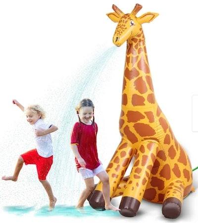 GoFloats Giant Inflatable Giraffe Party Sprinkler