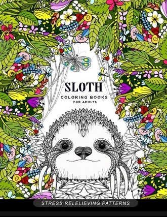 Sloth Coloring Books for Adults